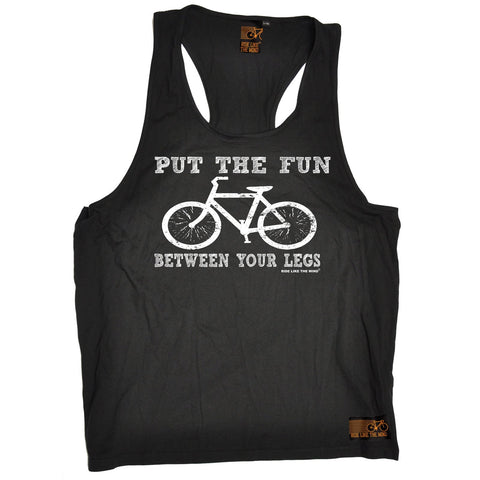 Ride Like The Wind Put The Fun Between Your Legs Cycling Men's Tank Top