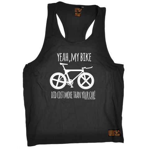 Ride Like The Wind Yeah My Bike Did Cost More Than Your Car Cycling Men's Tank Top