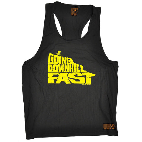 Ride Like The Wind Going Downhill Fast Cycling Men's Tank Top