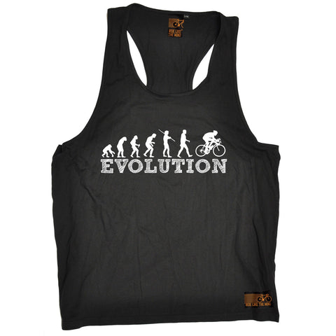 Ride Like The Wind Evolution Bike Racer Cycling Men's Tank Top