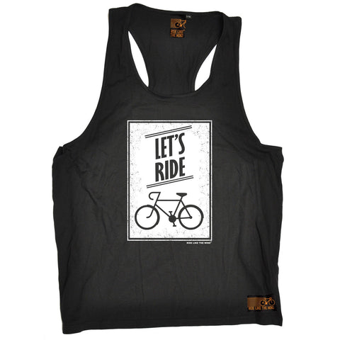 Ride Like The Wind Let's Ride Cycling Men's Tank Top