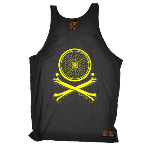 Ride Like The Wind Wheel Crossbones Cycling Vest Top