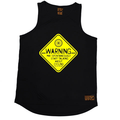 Ride Like The Wind Warning May Spontaneously Start Talking About Cycling Men's Training Vest