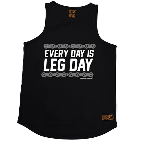 Ride Like The Wind Every Day Is Leg Day Cycling Men's Training Vest