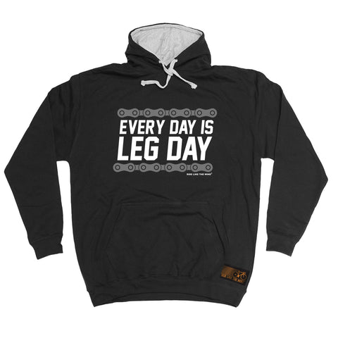 Ride Like The Wind Every Day Is Leg Day Cycling Hoodie