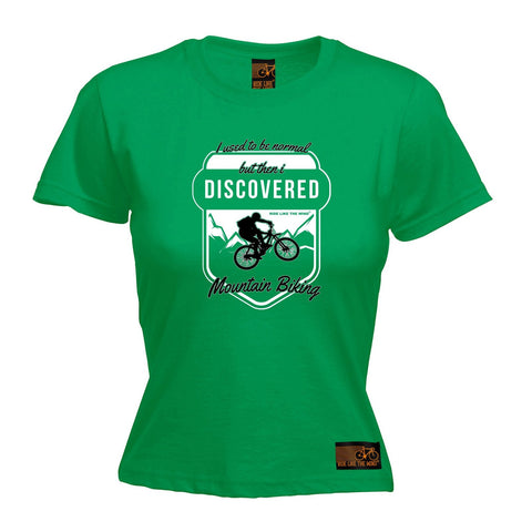 Ride Like The Wind Women's I Used To ... Mountain Biking Cycling T-Shirt