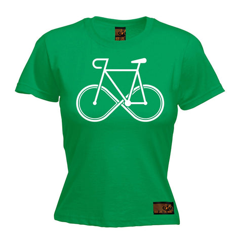 Ride Like The Wind Women's Infinity Bike Design Cycling T-Shirt