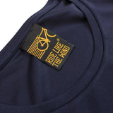 Women's RIDE LIKE THE WIND - Bicycle Logo - Premium Dry Fit Breathable Sports ROUND NECK T-SHIRT - tee top cycling cycle bicycle jersey t shirt