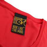 FB Ride Like The Wind Cycling Ladies Tee - 0 Emission - Round Neck Dry Fit Performance T-Shirt