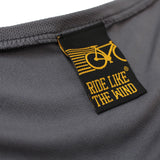 FB Ride Like The Wind Womens Cycling Tee - Burn Fat Not Oil - V Neck Dry Fit Performance T-Shirt