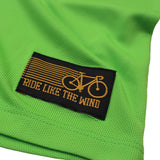 FB Ride Like The Wind Womens Cycling Tee - I Wonder Bike - V Neck Dry Fit Performance T-Shirt
