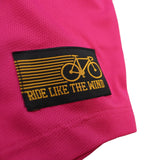 Women's RIDE LIKE THE WIND - Bicycle Pulse - Premium Dry Fit Breathable Sports V-Neck T-SHIRT - tee top cycling cycle bicycle jersey t shirt