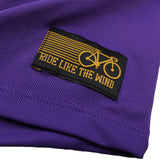 Women's RIDE LIKE THE WIND - One Gear All Year - Premium Dry Fit Breathable Sports V-Neck T-SHIRT - tee top cycling cycle bicycle jersey t shirt