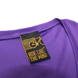 FB Ride Like The Wind Womens Cycling Tee - Dark Side - V Neck Dry Fit Performance T-Shirt