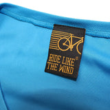 FB Ride Like The Wind Womens Cycling Tee - Complicated Cycling - V Neck Dry Fit Performance T-Shirt