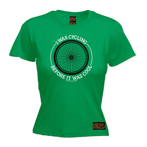 Ride Like The Wind Women's Wheel I Was Cycling Before It Was Cool T-Shirt