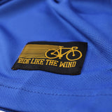 Men's RIDE LIKE THE WIND - Id Rather Be Biking - Premium Dry Fit Breathable Sports T-SHIRT - tee top cycling cycle bicycle jersey t shirt
