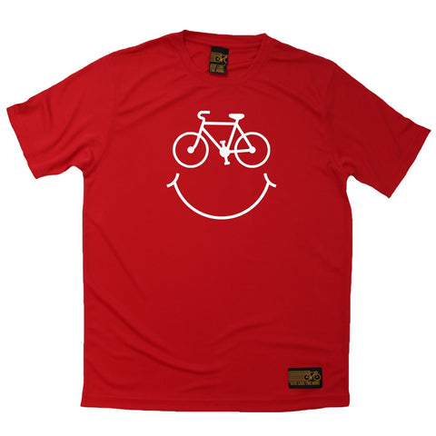 Men's RIDE LIKE THE WIND - Bicycle Smile Face - Premium Dry Fit Breathable Sports T-SHIRT - tee top cycling cycle bicycle jersey t shirt