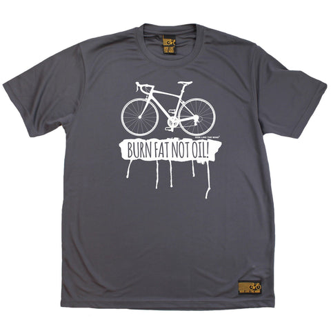 Men's RIDE LIKE THE WIND - Burn Fat Not Oil - Premium Dry Fit Breathable Sports T-SHIRT - tee top cycling cycle bicycle jersey t shirt