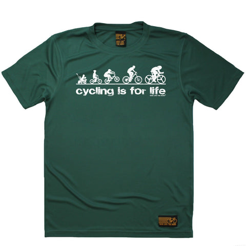 Men's RIDE LIKE THE WIND - Cycling Is For Life - Premium Dry Fit Breathable Sports T-SHIRT - tee top cycling cycle bicycle jersey t shirt