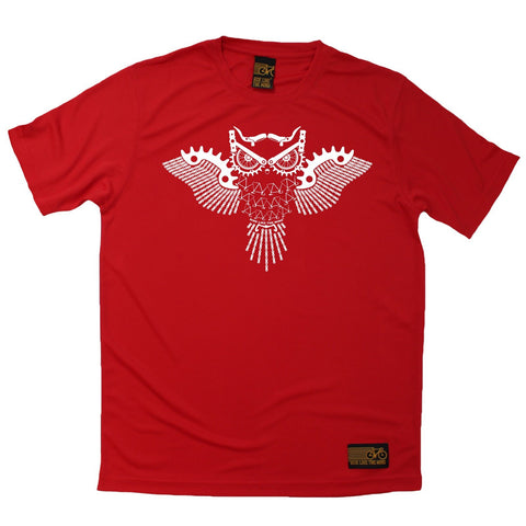 Men's RIDE LIKE THE WIND - Bicycle Gear Owl - Premium Dry Fit Breathable Sports T-SHIRT - tee top cycling cycle bicycle jersey t shirt