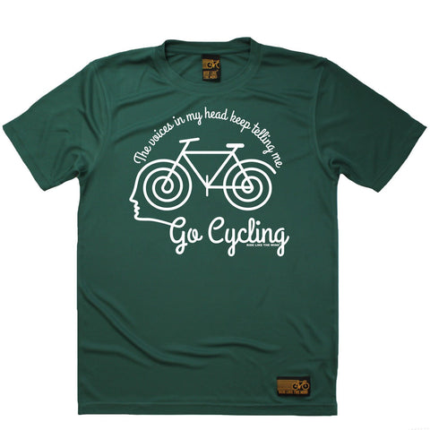 Men's RIDE LIKE THE WIND - The Voices In My Head Keep Telling Me To Go Cycling - Premium Dry Fit Breathable Sports T-SHIRT - tee top cycling cycle bicycle jersey t shirt