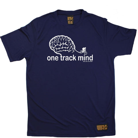 Men's RIDE LIKE THE WIND - One Track Mind - Premium Dry Fit Breathable Sports T-SHIRT - tee top cycling cycle bicycle jersey t shirt