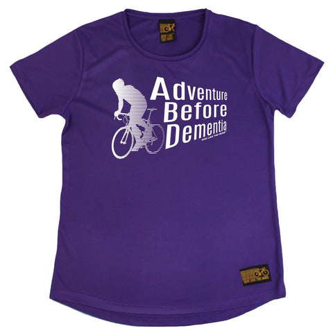 Women's RIDE LIKE THE WIND - Adventure Before Dementia - Premium Dry Fit Breathable Sports ROUND NECK T-SHIRT - tee top cycling cycle bicycle jersey t shirt