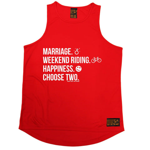 Ride Like The Wind Marriage Weekend Riding Happiness Choose Two Cycling Men's Training Vest
