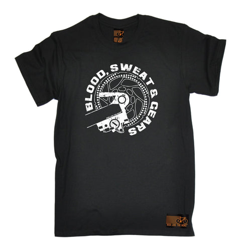 Ride Like The Wind Men's Blood Sweat & Gears Cycling T-Shirt