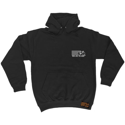 Ride Like The Wind Breast Pocket Brand Design Cycling Hoodie