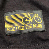 Ride Like The Wind Cycling Tee - All Ass No Gas -  Womens Fitted Cotton T-Shirt Top T Shirt
