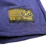 FB Ride Like The Wind Cycling Tee - A Good Bike Ride -  Womens Fitted Cotton T-Shirt Top T Shirt