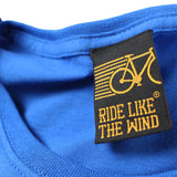 FB Ride Like The Wind Cycling Tee - Skull -  Womens Fitted Cotton T-Shirt Top T Shirt