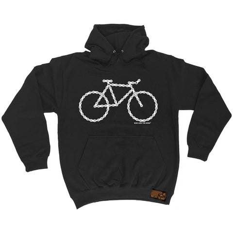 Ride Like The Wind Bike Made Of Chains Cycling Hoodie