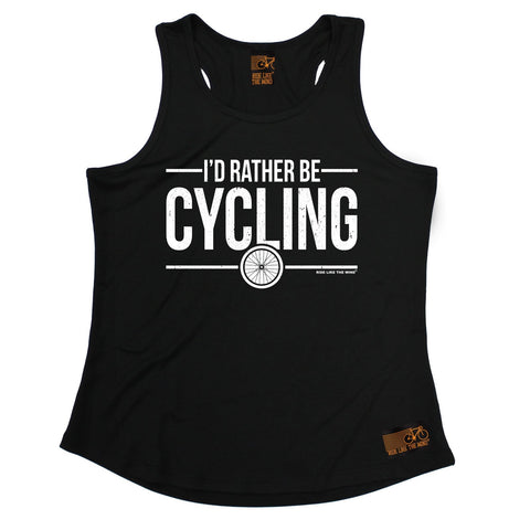 Ride Like The Wind I'd Rather Be Cycling Girlie Training Vest