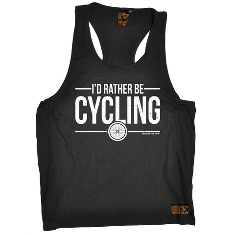 Ride Like The Wind I'd Rather Be Cycling Men's Tank Top