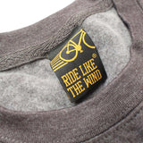 Ride Like The Wind Cycling Sweatshirt - When In Doubt Pedal It Out Gray Crank - Sweater Jumper