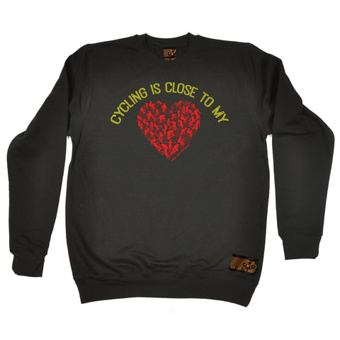 Ride Like The Wind Cycling Is Close To My Heart Sweatshirt