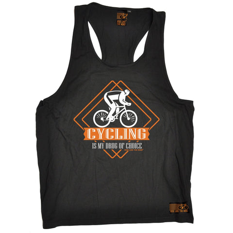 Ride Like The Wind Cycling Is My Drug Of Choice Men's Tank Top