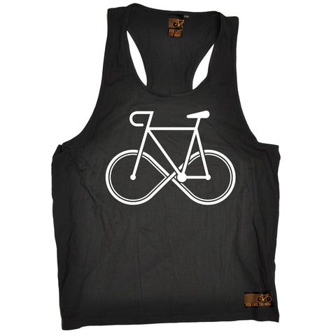 Ride Like The Wind Infinity Bike Design Cycling Men's Tank Top
