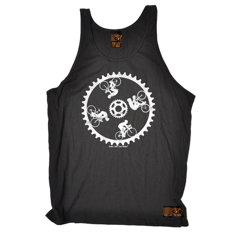 Ride Like The Wind Cycling Wall Of Death Vest Top