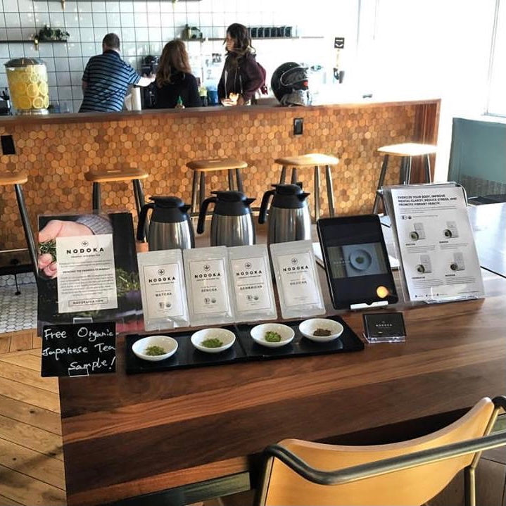 Free sampling at WeWork in Brooklyn