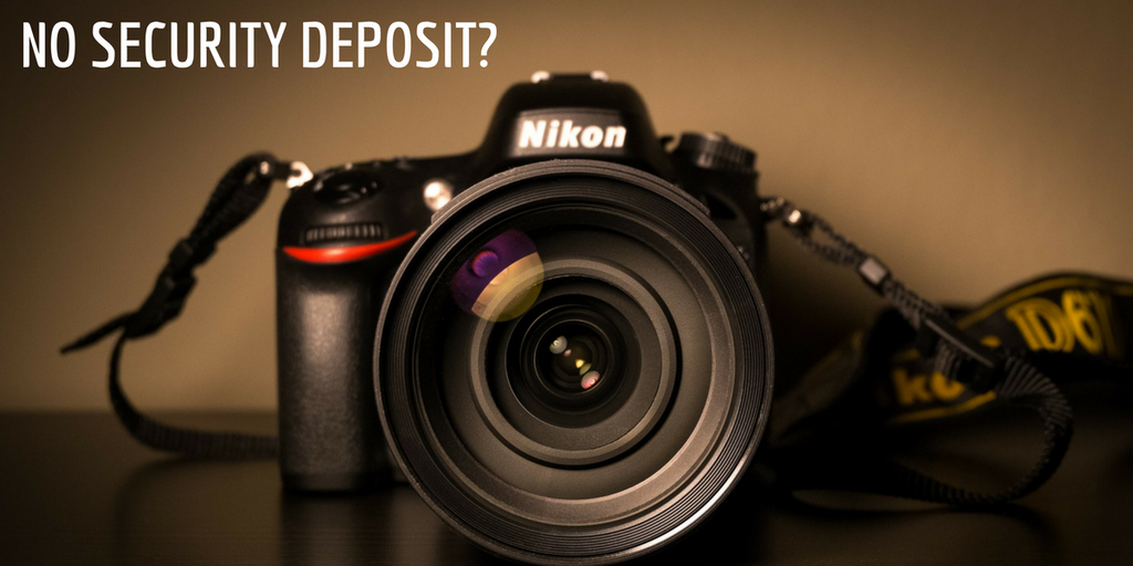 DSLR camera on rent without security deposit