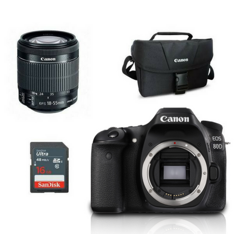 Canon 80D (Body With Lens)