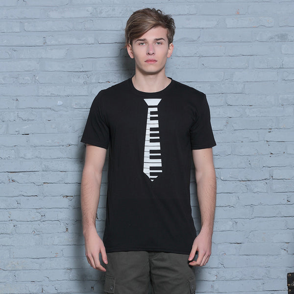 Piano Tie Artistic T-Shirt