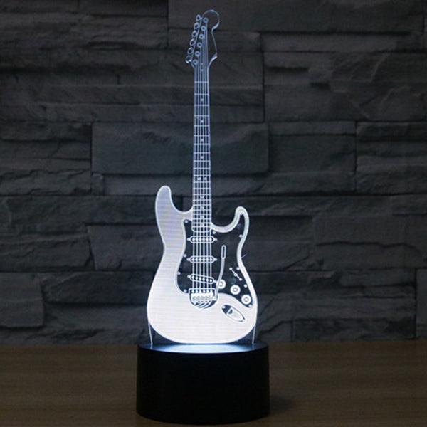 3D Color Changing Stratocaster Lamp