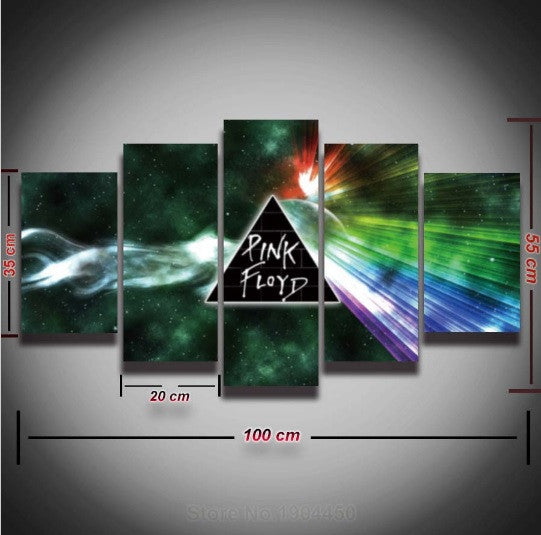 Pink Floyd Artistic Canvas Painting