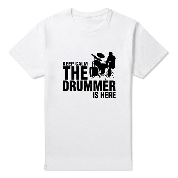 Keep Calm The Drummer is Here T-Shirt - Muse Raven - Dream Out Loud