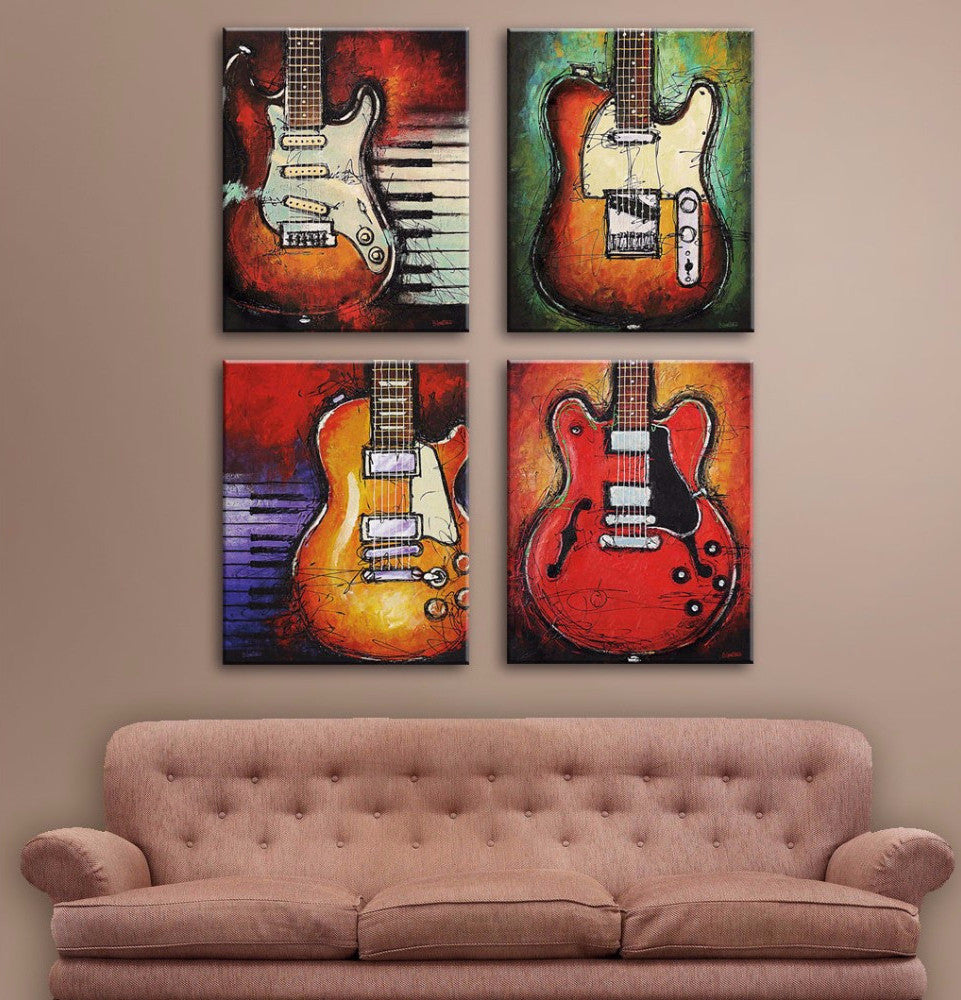 Guitars World Wall Art